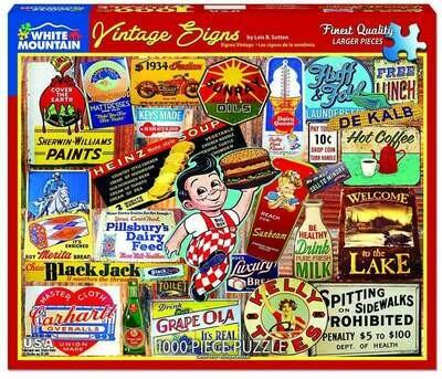Vintage Signs Puzzle 1000