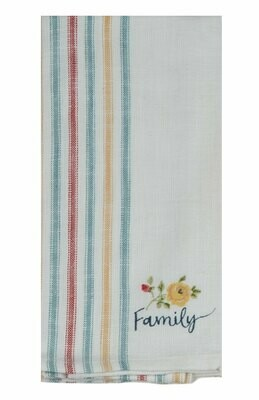 Country Fresh Family Embroidered Towel