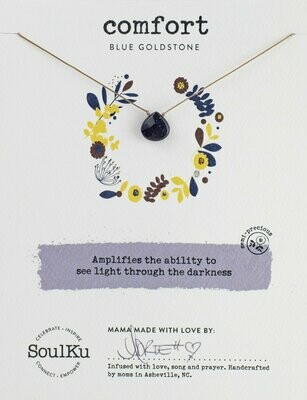 Soul-Full Necklace Blue Goldstone - Comfort