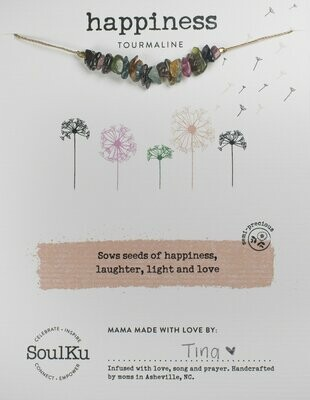 Seed Necklace Tourmaline- Happiness
