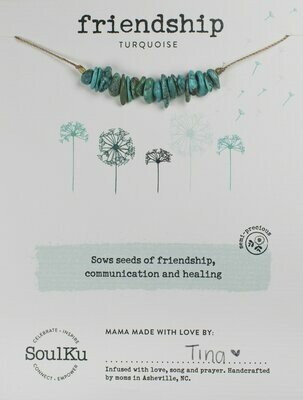 Seed Necklace Turquoise- Friendship