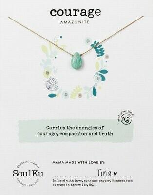 Soul-Full Necklace Amazonite - Courage
