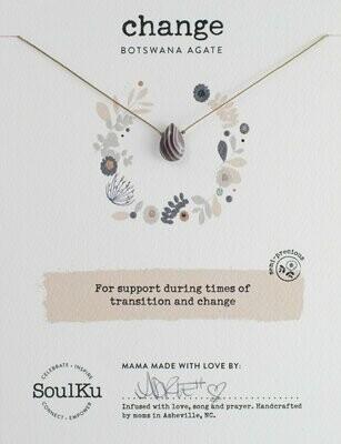 Soul-Full Necklace Botswana Agate - Change
