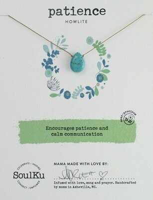 Soul-Full Necklace Howlite - Patience
