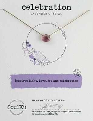 Soul-Full Necklace Lavender Crystal - Celebration
