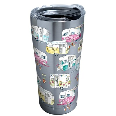 STAINLESS STEEL COLORFUL CAMPER 20 OZ.