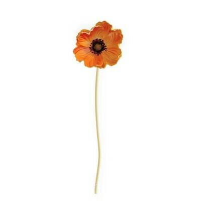 Orange Real Touch Mini Poppy Stem