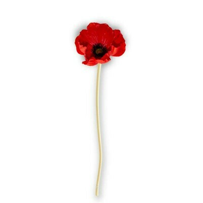 Red Real Touch Mini Poppy Stem