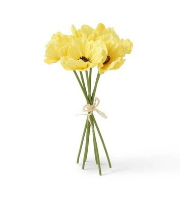Yellow Real Touch Mini Poppy Bundle