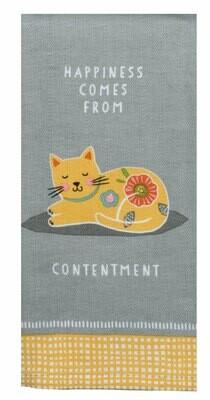 Contentment Tea Towel
