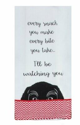 WATCHING YOU TEA TOWEL