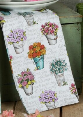 LIVE SIMPLY FLORAL DP TERRY TOWEL