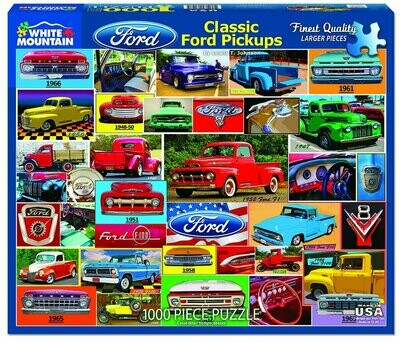 Classic Ford Pickups Puzzle 1000