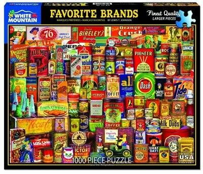 Favorite Brands Puzzle 1000