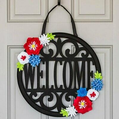 Americana Welcome Door Decor