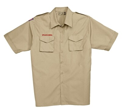BS Adult Tan Polyester Shirt
