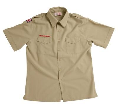BS Adult Tan Microfiber Shirt