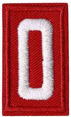 Cub Scout Numbers Red
