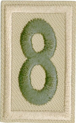 Boy Scout Numbers Green