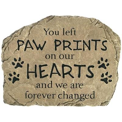 Garden Stone - Paw Prints