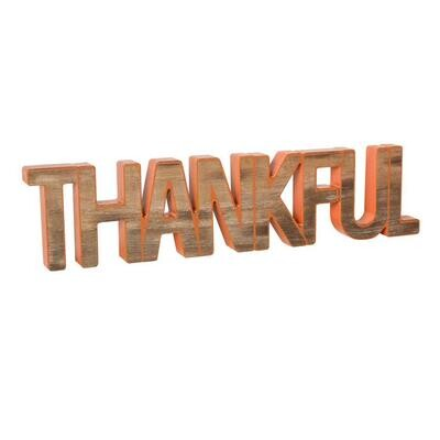 Thankful Word Cutout
