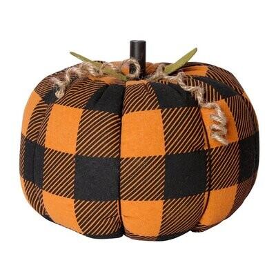 XL OB Check Fabric Pumpkin