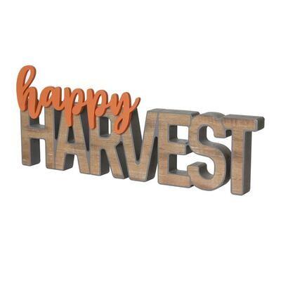 Happy Harvest 3D Word Cutout