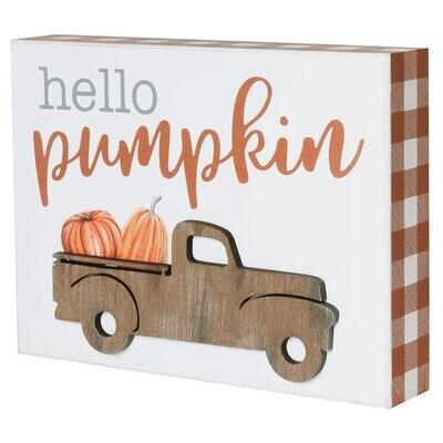 Pumpkin OW 3D Box Sign