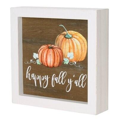 Happy Fall Framed Sign