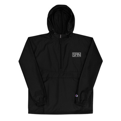 Embroidered Champion Packable Jacket, Small SPIN Logo