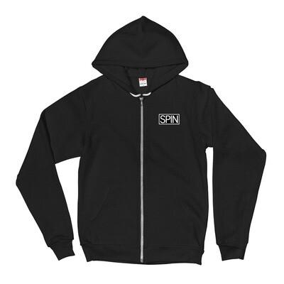 Zip Up Hoodie, American Apparel, SPIN Logo