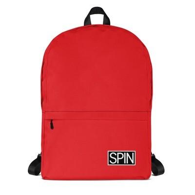 Red Backpack, SPIN Logo