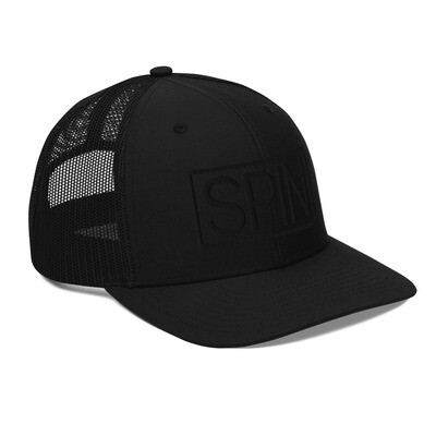 Trucker Cap, Black Edition SPIN Logo 3D Puff Embroidery