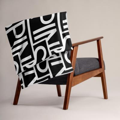 Throw Blanket, SPIN Logo Pattern