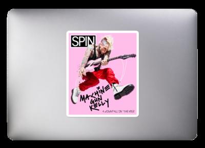High Opacity Vinyl Sticker, Machine Gun Kelly SPIN Cover Series