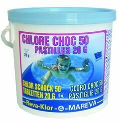 Reva-Klor choc 50 - Pastilles 125gr. - 5 kg