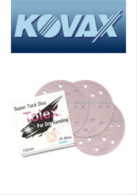 KOVAX TOLEX SUPER TACK D150 P1500  DISCHI ABRASIVI 15 F. CONF. 25pz