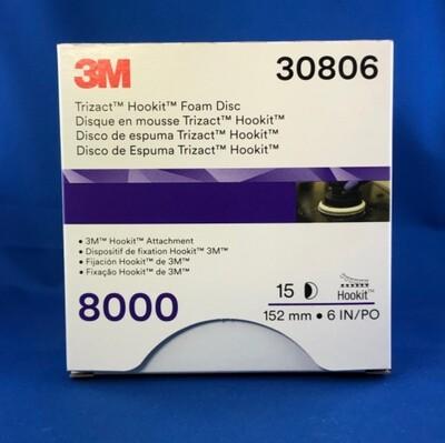 3M™ Trizact™ Hookit™ Disco abrasivo 150MM 1000/3000/6000/8000 Confz. 15Pz