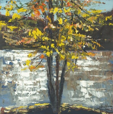French Broad River Autumn Study #1
