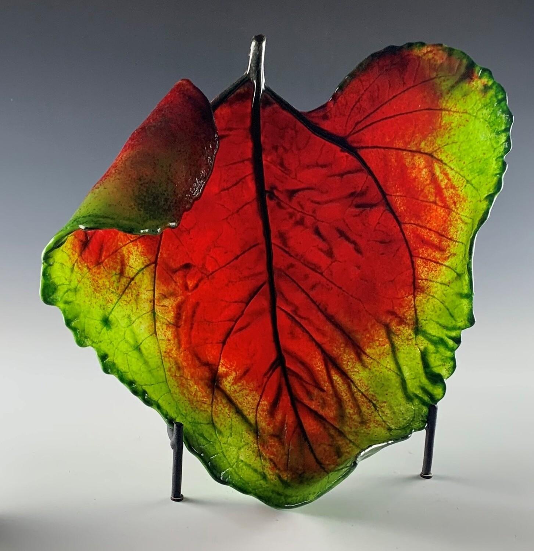 Cast Glass Sunflower Leaf - Large