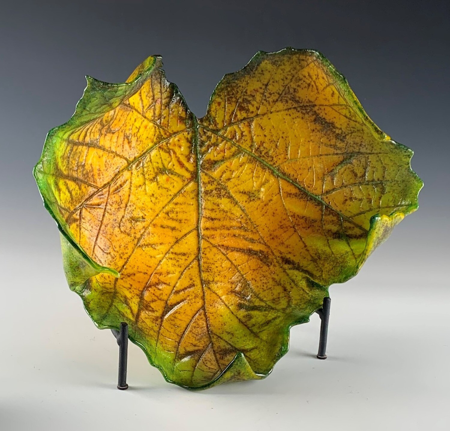 Cast Glass Sycamore Leaf - Large