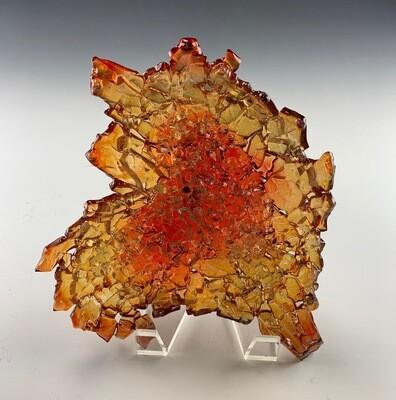Urban Geode Heart (Amber/Red)