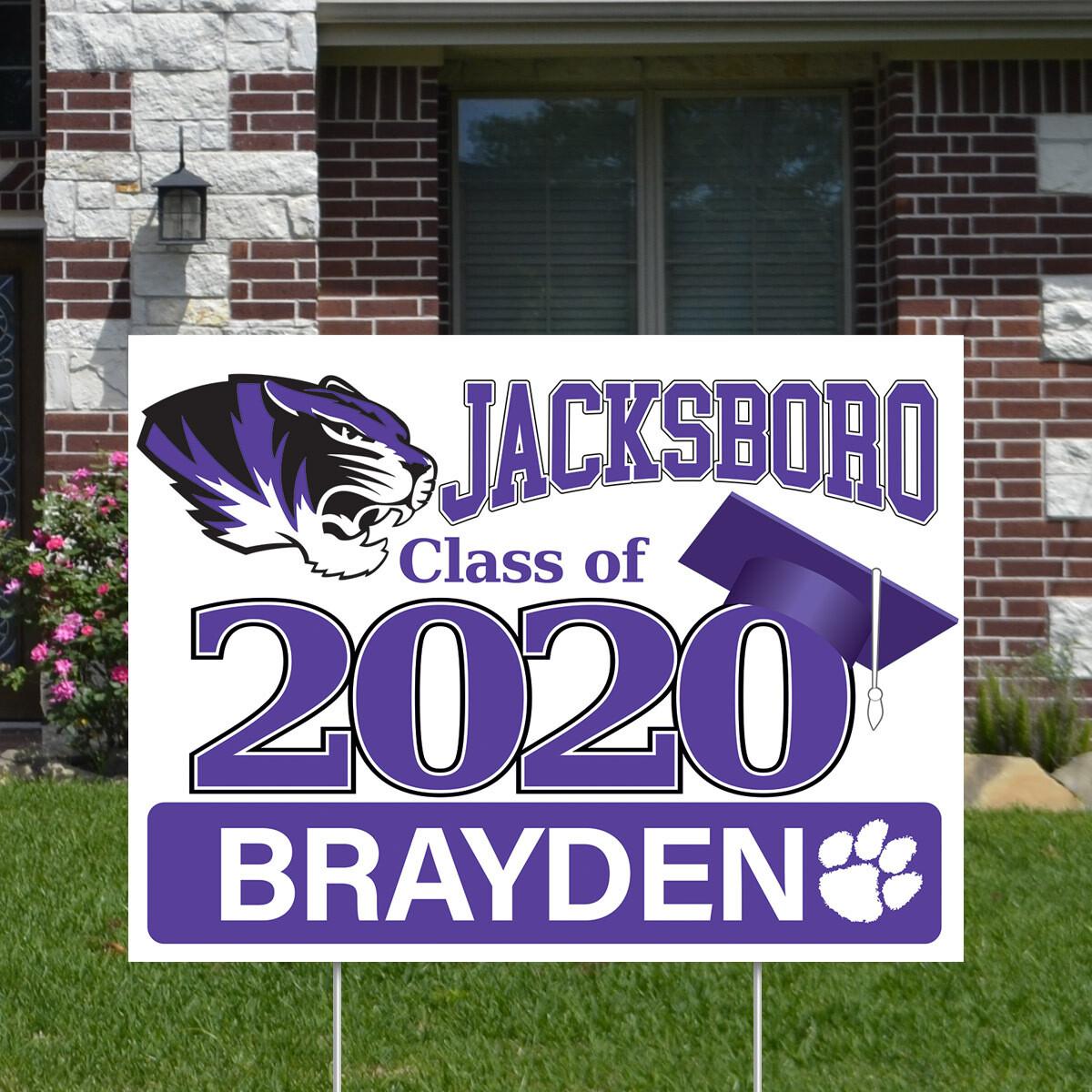 Jacksboro High School (4 styles)