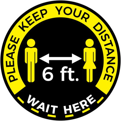 Floor Decal - Please Keep Your Distance
