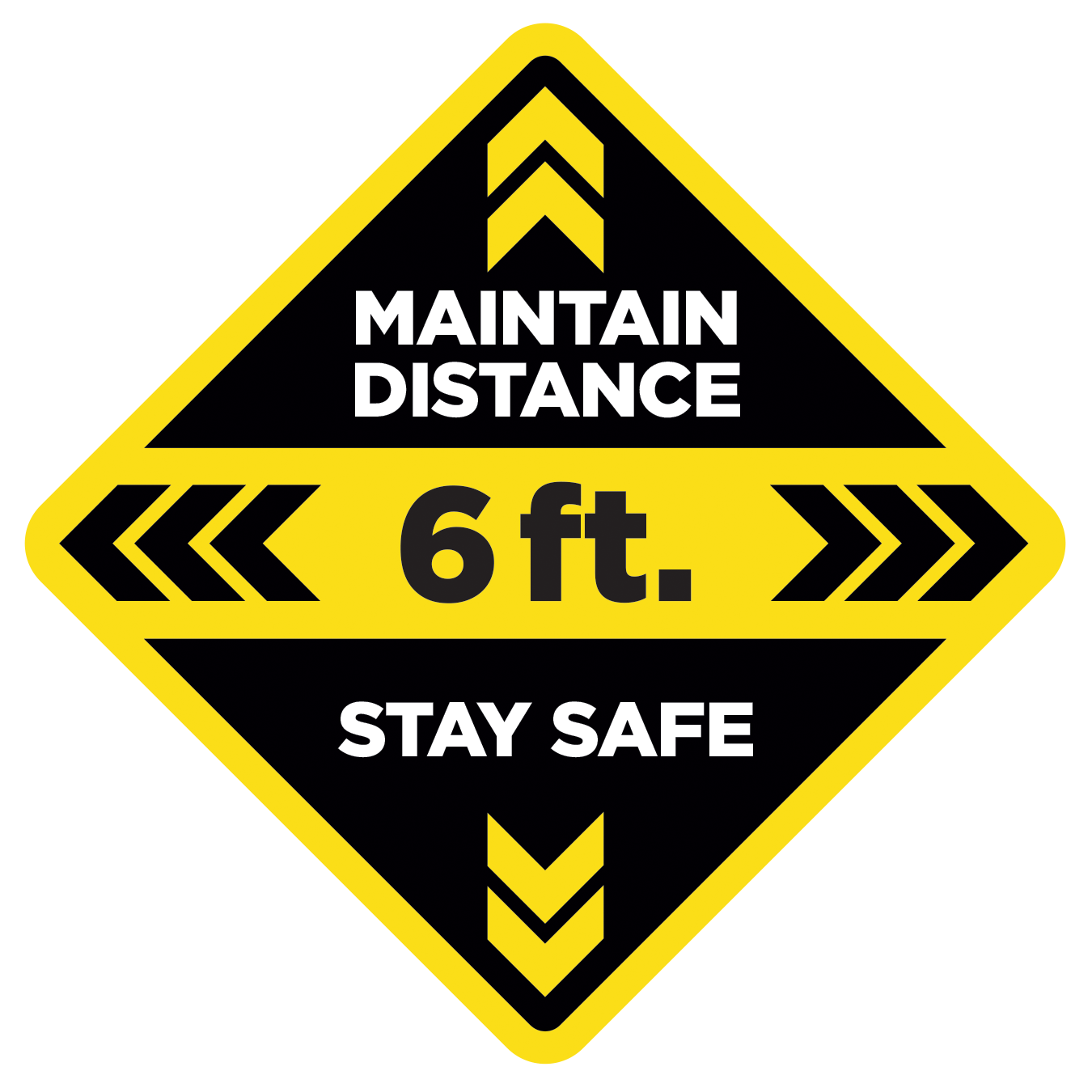 Floor Decal - Maintain Distance