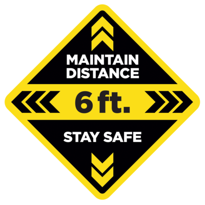 Floor Decal - Maintain Distance