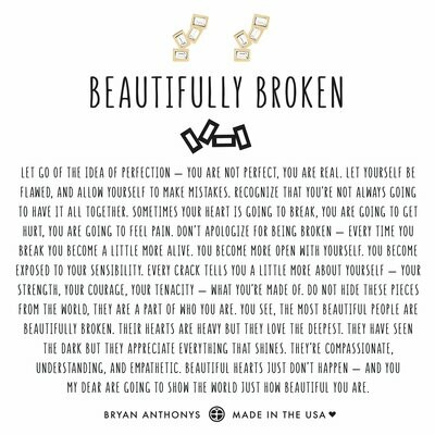 BA Beautifully Broken Earrings Gold