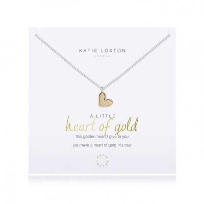 Katie a little heart of gold necklace