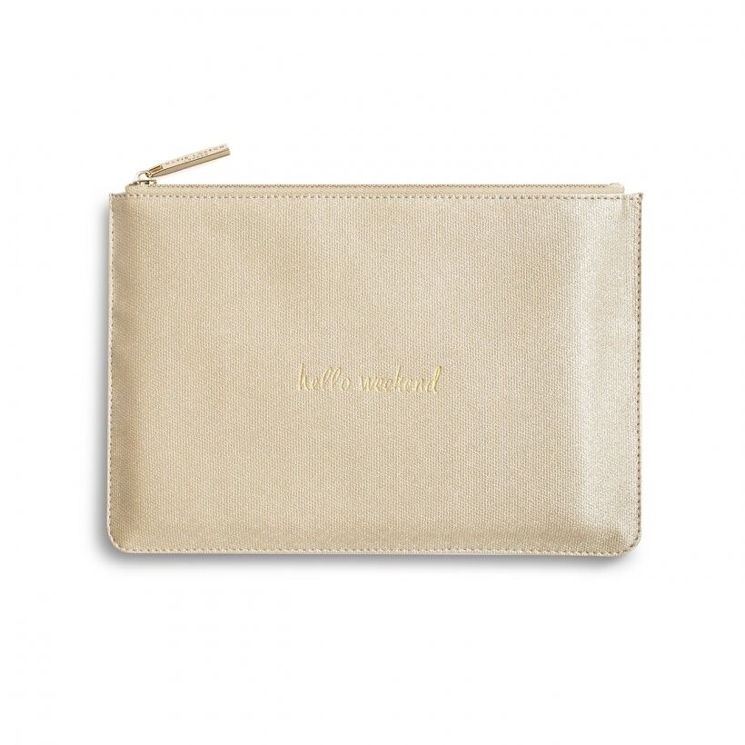 Katie Perfect Pouch hello weekend