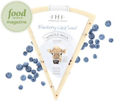Farmhouse Fresh Blueberry Chia Seed Whole Milk Soap Bar